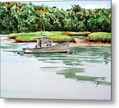 Polly C On The Mill River Metal Print by Peter Sit