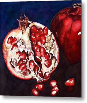 Pomegranate Study Number Two Metal Print