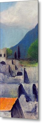 Pompeii Sketch 2 Metal Print by David Wiles