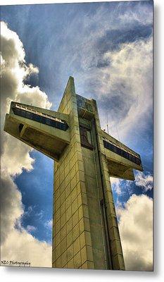 Ponce Cross Metal Print by Nicholas Caputo
