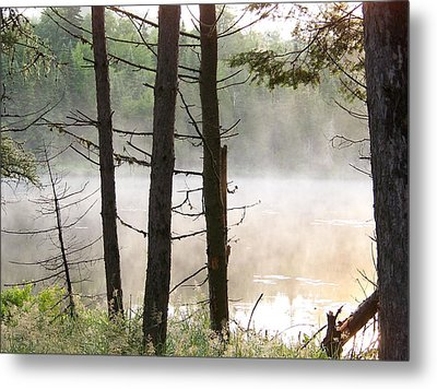 Metal Print featuring the photograph Pond In Jackman by Robin Regan