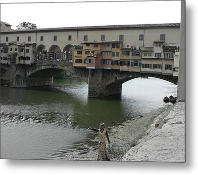 Metal Print featuring the photograph Ponte Vecchio by Laurel Best