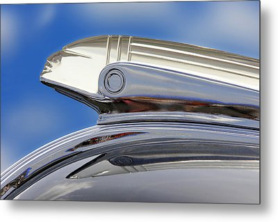 Pontiac Hood Ornament  Metal Print by Mike McGlothlen