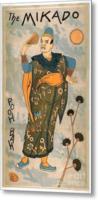 Poo Bah From The Mikado Metal Print by Merton Allen
