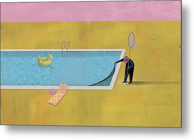 Pool Animal 01 Metal Print by Dennis Wunsch