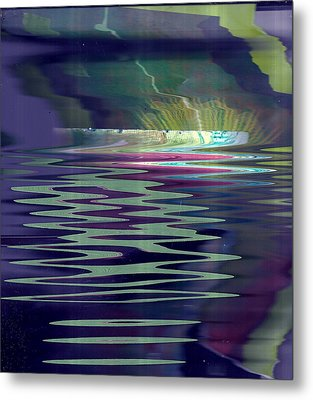 Pool Of Reflections And Memories Metal Print by Anne-Elizabeth Whiteway