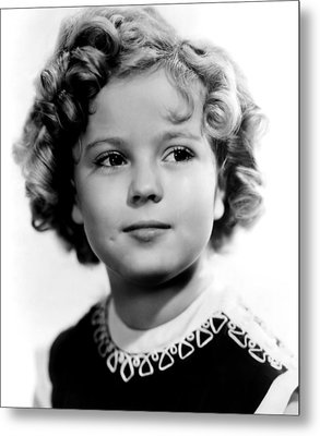 Poor Little Rich Girl, Shirley Temple Metal Print by Everett