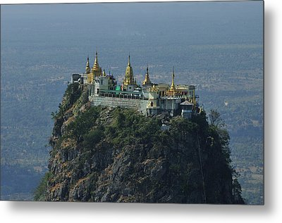 Popa Mountain Top Temple Metal Print by Huang Xin