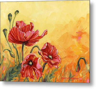 Poppies Metal Print by Kurt Jacobson