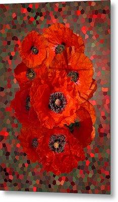 Poppies Metal Print by Nigel Chaloner