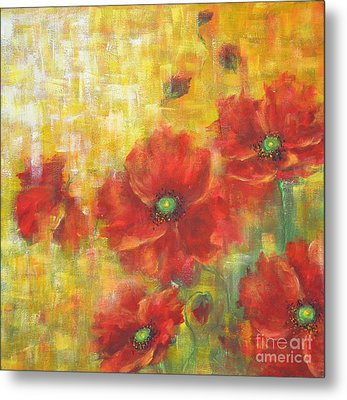 Poppies On A Sunny Day Metal Print