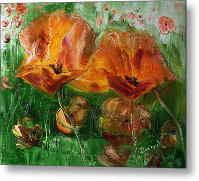 Poppies Metal Print by Raymond Doward