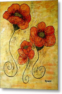 Poppy-art Metal Print