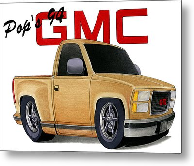 Pop's Gmc Metal Print by Lyle Brown