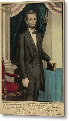 Popular Print Of President Abraham Metal Print by Everett