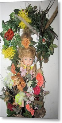 Porcelain Doll Arrangement Metal Print by HollyWood Creation By linda zanini
