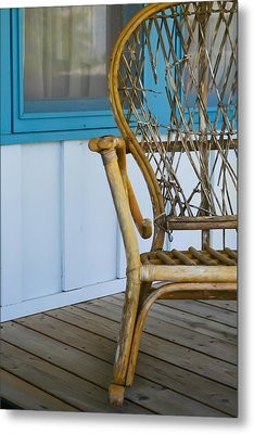 Porch Chair Metal Print