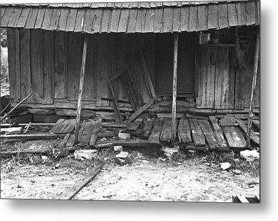 Porch Of A Barely Standing Home Metal Print by Everett