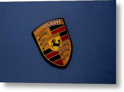 Metal Print featuring the photograph Porsche Marque by John Schneider