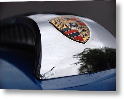Metal Print featuring the photograph Porsche Super 90 Marque by John Schneider