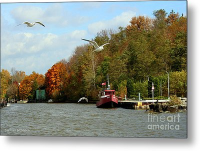 Metal Print featuring the photograph Port Dover Harbour by Barbara McMahon