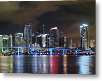 Metal Print featuring the photograph Port Of Miami Downtown by Gary Dean Mercer Clark