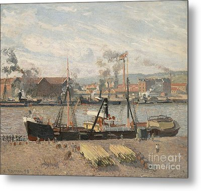 Port Of Rouen Metal Print by Camille Pissarro