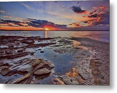Metal Print featuring the photograph Port Stephens Sunset by Paul Svensen