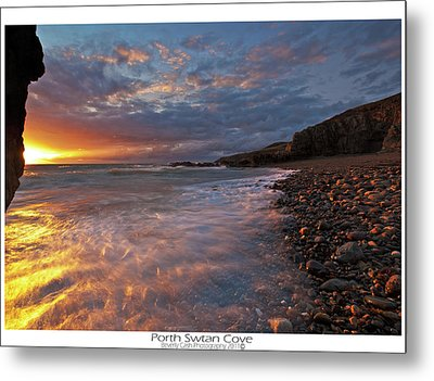 Metal Print featuring the photograph Porth Swtan Cove by Beverly Cash