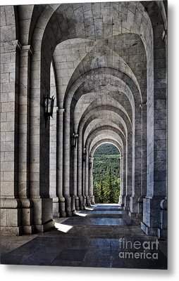 Portico From The Valley Of The Fallen Metal Print by Mary Machare