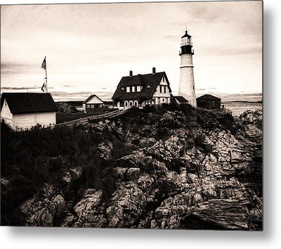 Metal Print featuring the photograph Portland Head by Kelly Reber