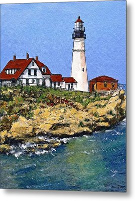 Portland Head Light House Metal Print by Randy Sprout