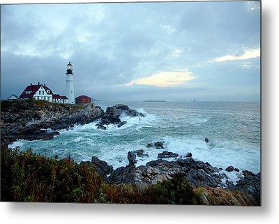 Portland Head Lighthouse At Sunrise Metal Print by Thomas Northcut