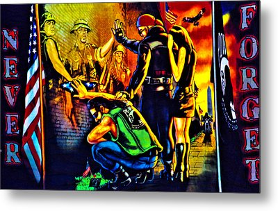 Portrait Of A Heroes Billboard Metal Print by Shannon Childress