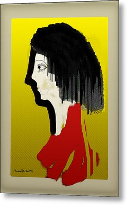 Portrait Of A Little Lady Metal Print by Asok Mukhopadhyay