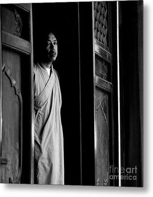 Portrait Of A Shaolin Monk Metal Print