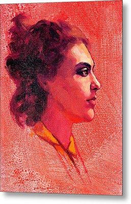 Portrait Of Alysha Metal Print by Roz McQuillan
