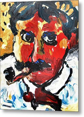 Portrait Of Derain After Vlaminck Metal Print by Alexandra Jordankova