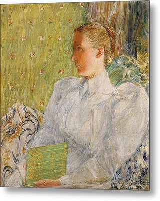 Portrait Of Edith Blaney Metal Print by Childe Hassam