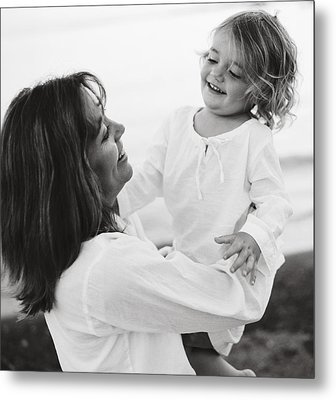 Portrait Of Mother And Daughter Metal Print by Michelle Quance