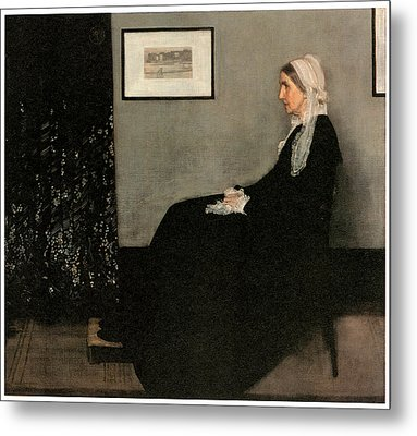 Portrait Of The Artist's Mother Metal Print by James Abbott McNeill Whistler
