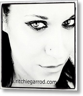#portrait #photoshoot #bnw #headshot Metal Print by Ritchie Garrod