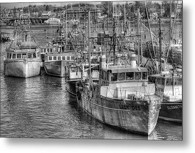 Portsmouth Fishing Fleet Metal Print by Ron St Jean