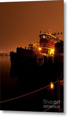 Portsmouth Tugs 1st Night Metal Print by Sharon Seaward