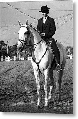 Portuguese Horse Rider Metal Print by Gaspar Avila