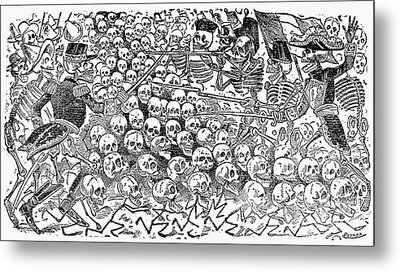 Posada: Skeletons, 1911 Metal Print by Granger