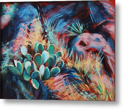 Positively Prickly Metal Print