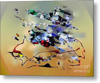 Metal Print featuring the digital art Possibilities by Leo Symon