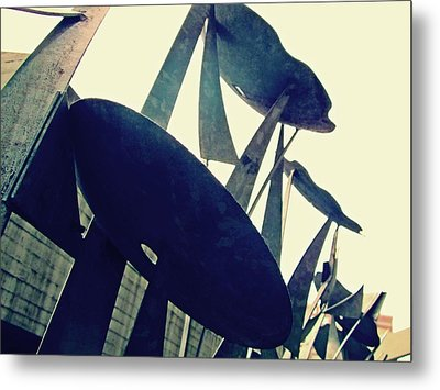 Post Alley Poppies Metal Print by Leanna Lomanski