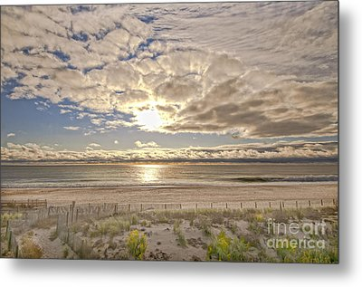 Metal Print featuring the photograph Post-tourist Sunrise Ocean City by Jim Moore